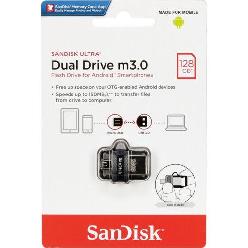 تصویر از فلش مموری سن دیسک مدل Ultra Dual Drive M3.0 ظرفیت 128 گیگابایت