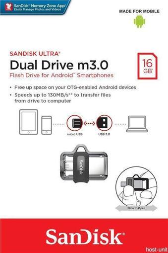 تصویر از فلش مموری سن دیسک مدل Ultra Dual Drive M3.0 ظرفیت 16 گیگابایت